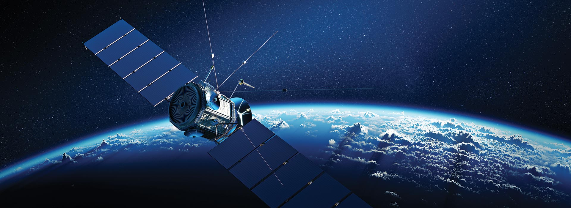 Space - Major Project - a satellite orbiting earth