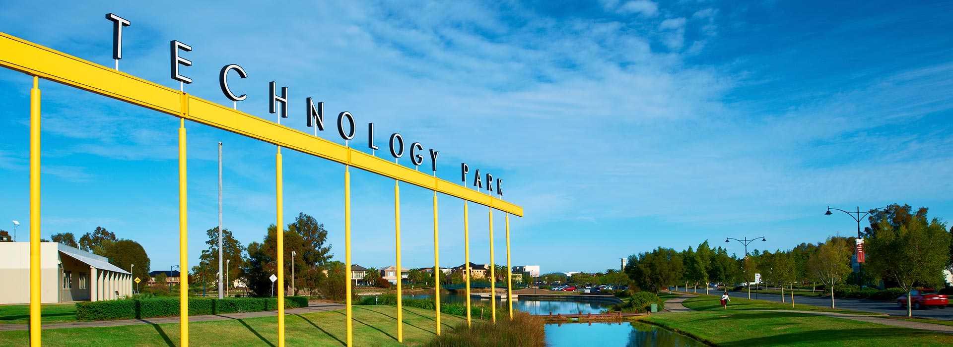 The Technology Park sign at Mawson Lakes