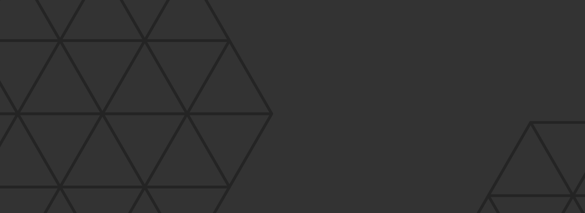 Flat grey background with hexagon elements